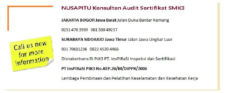 Konsultan Sertifikat SMK3